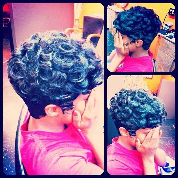 Pin Curls Short Hair Pin curl short crop