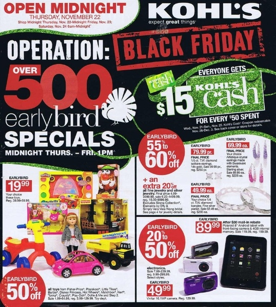 Kohl's Black Friday 2012 Ad Scans - 64 pages of HOT Deals!
