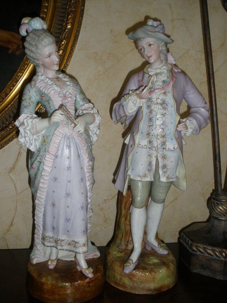 Antique Porcelain Figurines 19th Century Pair   eBay