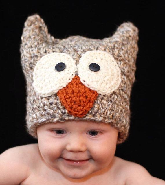 Crochet Owl Hat : Crochet Owl Hat - Hooty the Owl OWLS Pinterest