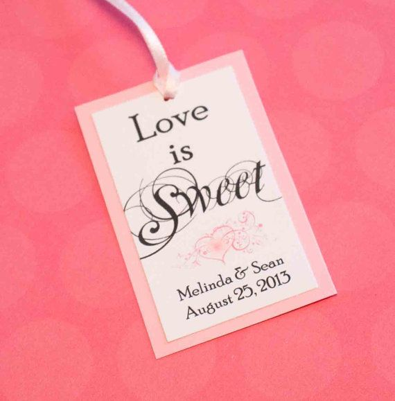 Love is Sweet Wedding Favor Tags by FoxyCouturePaperCuts Wedding ...