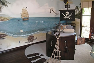 pirate theme bed/mast