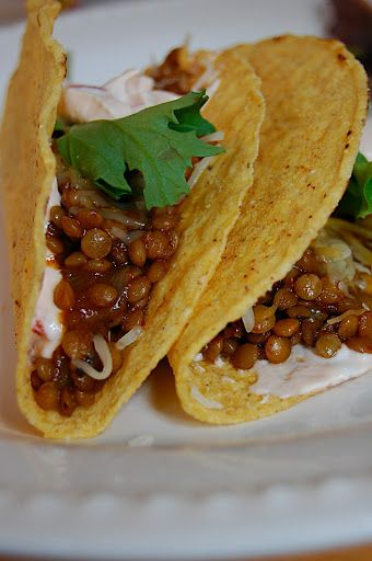 spiced lentil tacos from Savory Spicy Sweet
