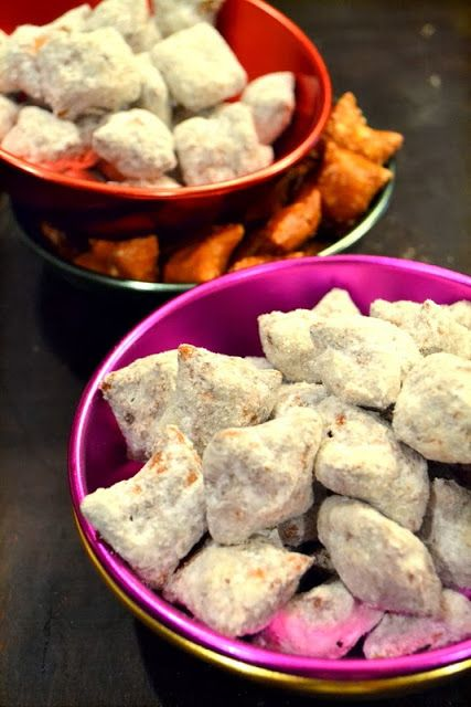 Cookin' Cowgirl: Peanut Butter Filled Pretzel Puppy Chow Nuggets