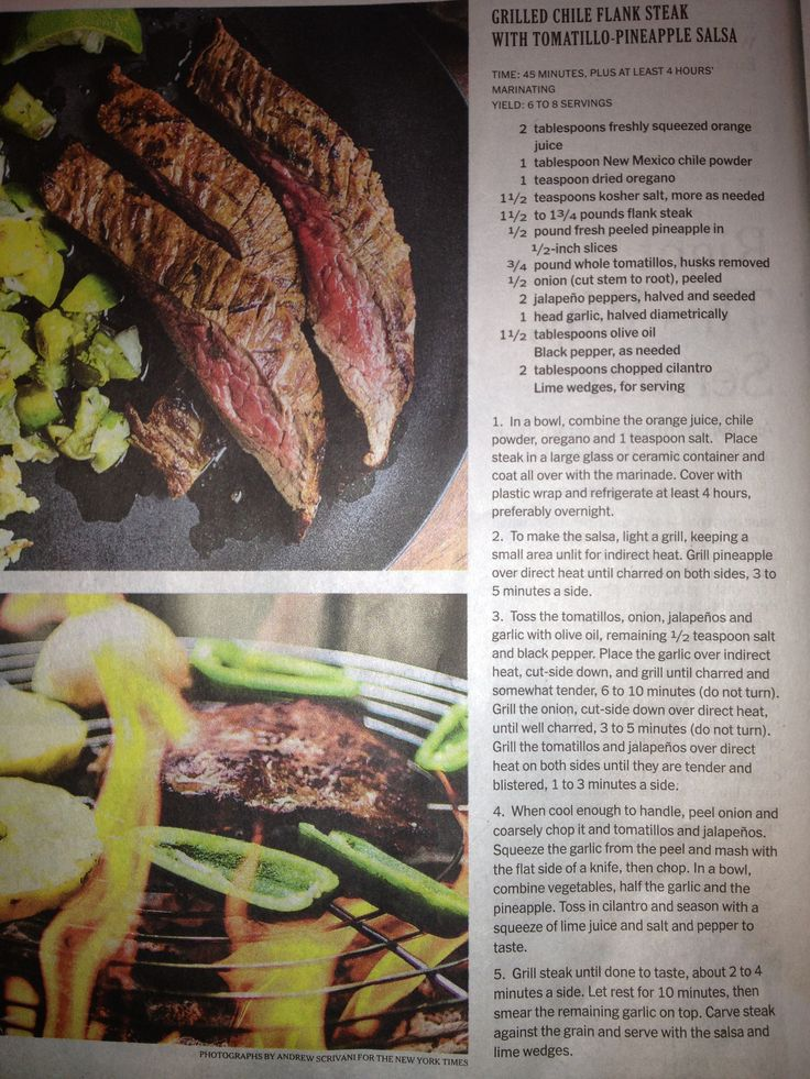 Herb-Crusted Flank Steak With Cherry Tomatoes And Olives ...