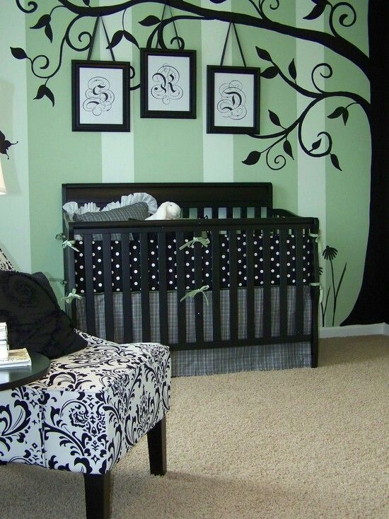 yes to the wall, no to the polka dots and black/white chair.  again, i'll need this one day to convince family that i don't want pastel pink or blue for baby stuff
