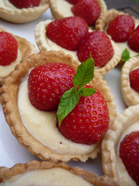 "Strawberry Tarts TIP: ""take your muffin tin and turn it over, and ..."