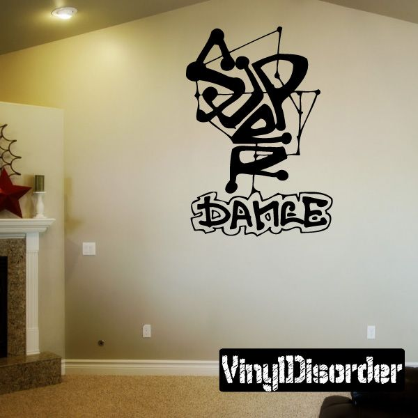 Graffiti Dance Wall Decal - Vinyl Decal - Car Decal - DC 057