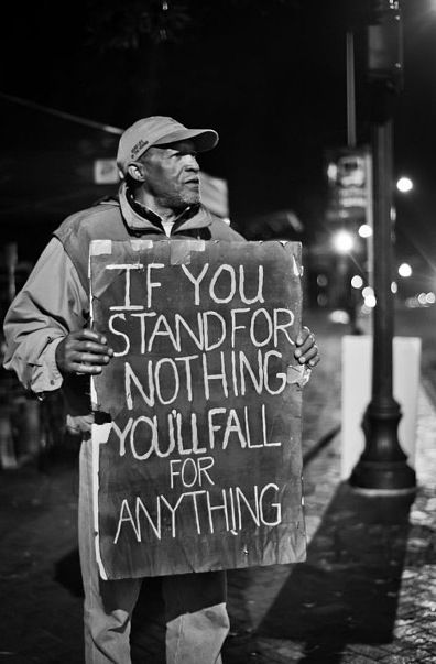 You need to stand for something