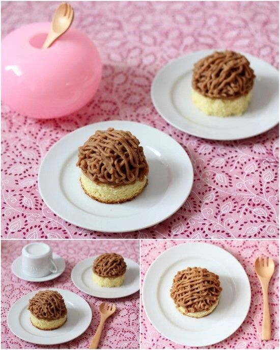 Japanese mont blanc cake chestnut cake with recipe for Mont blanc recipe