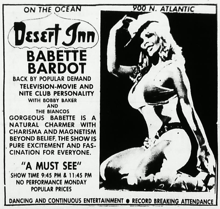 Babette Bardot, Russ Meyer Alumni and Daytona Beach haunter.