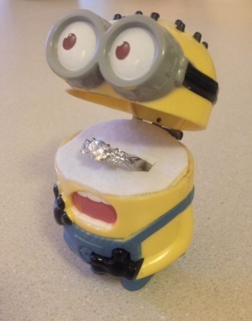 the ring box i made for my fiance minion fan