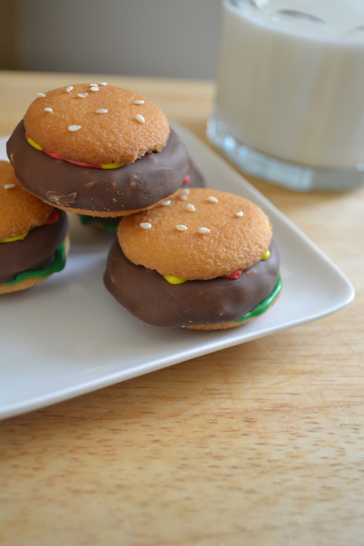 Mini Hamburger Cookies | Birthday Parties | Pinterest
