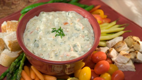This creamy Velvet Vegetable & Cheese Fondue is the perfect dip for ...