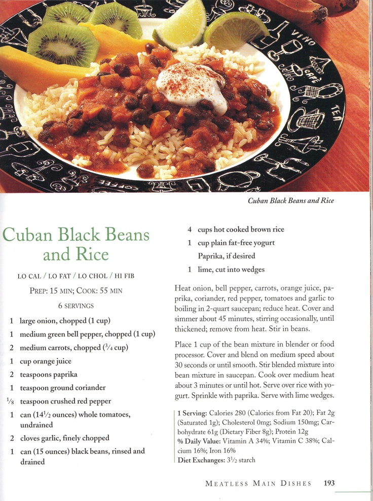 Cuban Black Beans and Rice | Pasta/Rice/Risotto Dishes | Pinterest