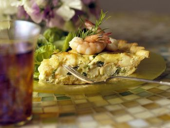 Shrimp and Spring Onion Quiche | Recipe