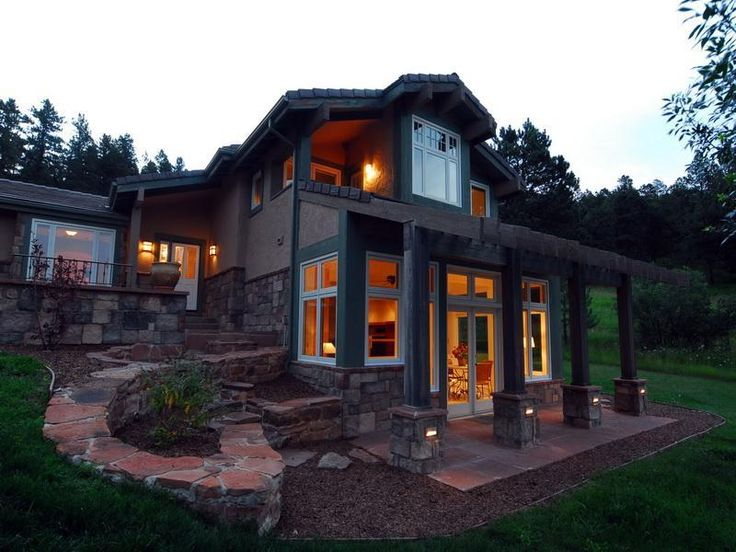 Lighting ranch house exterior remodel my home one day for Redesign my house