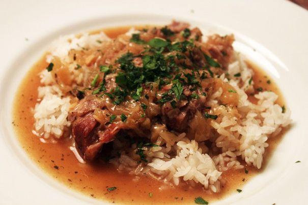 Smothered Pork Roast Over Rice | Yummy | Pinterest