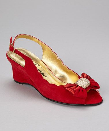 Take a look at this Red Rita Slingback by Dezario on #zulily today