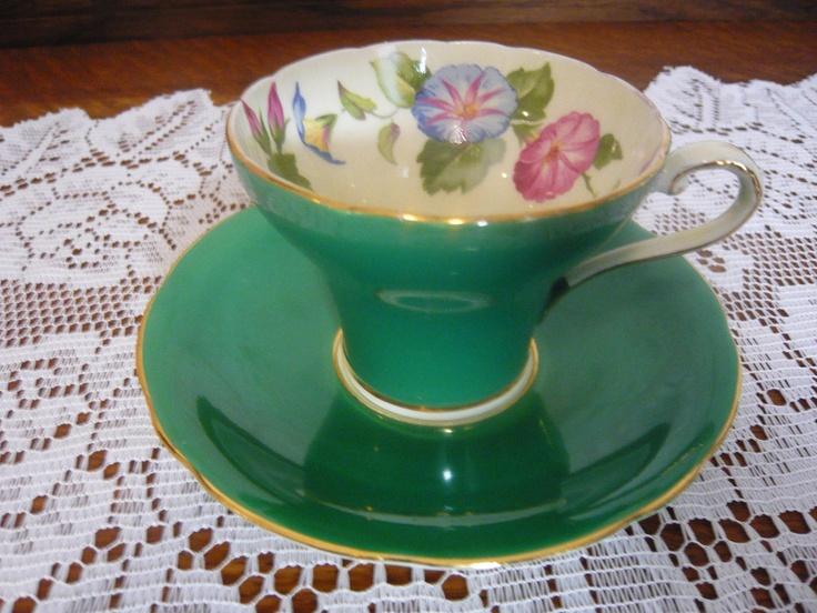 VIntage Aynsley Morning Glory | Tea Cups | Pinterest