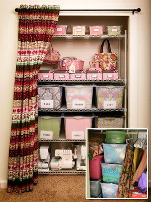 Organize Your Craft Closet... now i just need a craft closet!