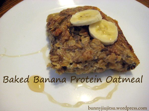 Baked banana protein oatmeal | breakfast, baking and desserts | Pinte ...