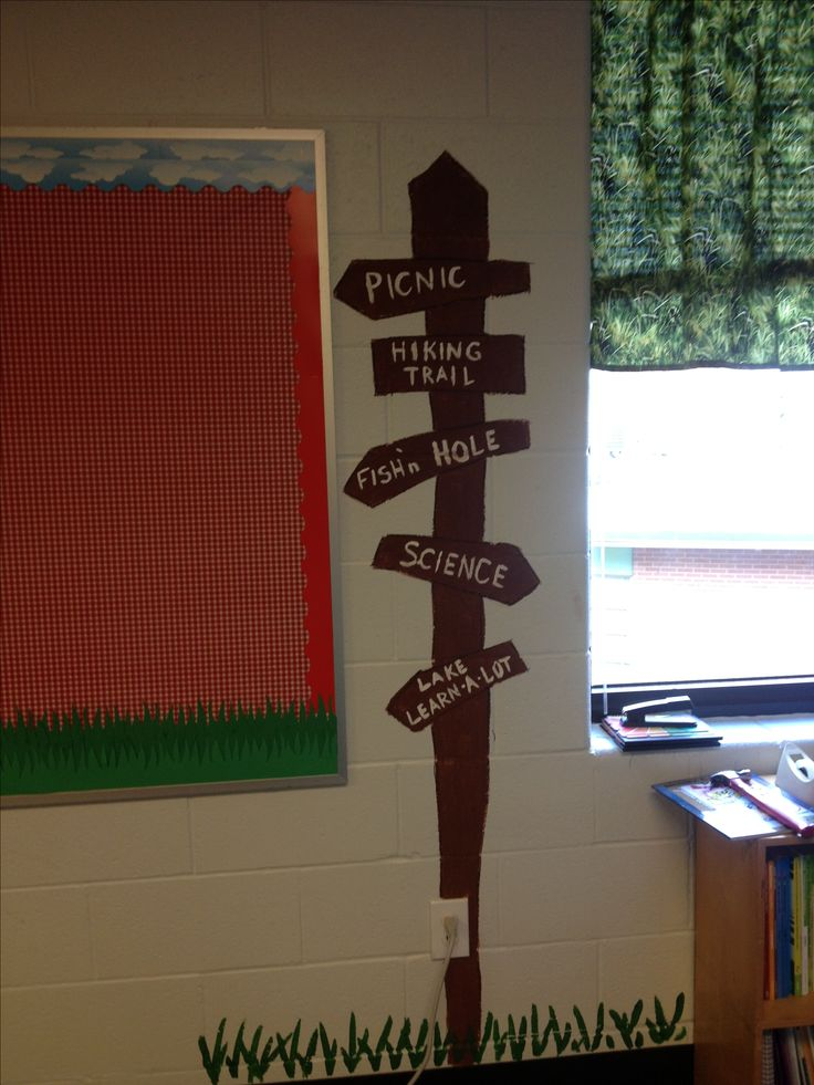 Classroom Decorating Ideas Camping Theme : Pin by jennie bennett on st grade bulletin boards pinterest