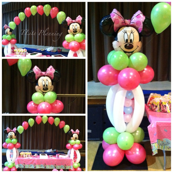 Minnie mouse balloon decorations minnie mickey for Balloon decoration minnie mouse