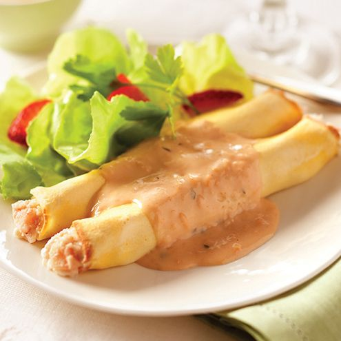 ... in luscious Ricotta cheese. Served with a sherry cream lobster sauce