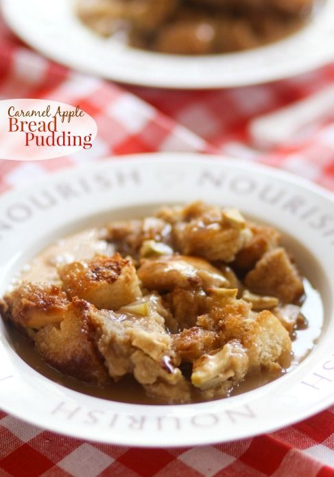 Caramel Apple Bread Pudding -- definitely making this often this Fall ...