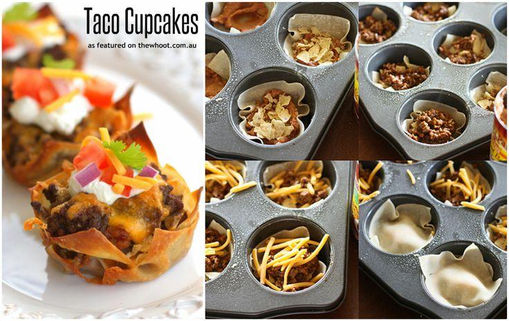 taco cupcakes   Foodies   Pinterest