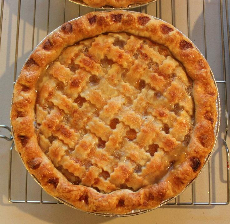 Peach Pie with a lattice crust | pie, oh my! | Pinterest