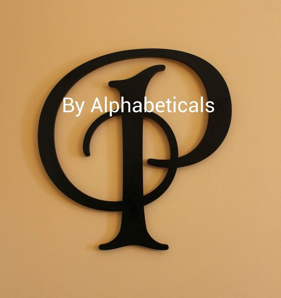 Large wooden initials decorative wall letters initial monogram wall decor wooden monogram - Initial letter wall decor ...