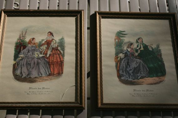 Miroir des modes victorian fashion magazine prints by leroy for Miroir des modes value