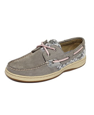 Charcoal Grey/Houndstooth Sperry Top-Sider Womens Shoes, Bluefish Boat