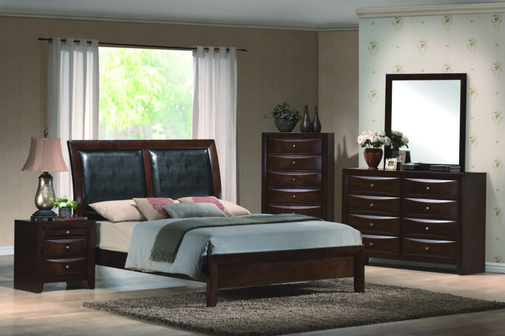 contemporary dark wood bedroom set bedroom pinterest