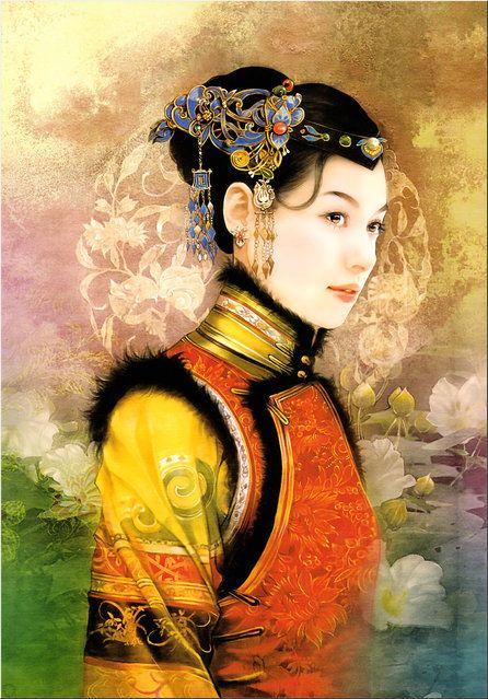 Chinese Beauty by Der Jen (Dezhen) |