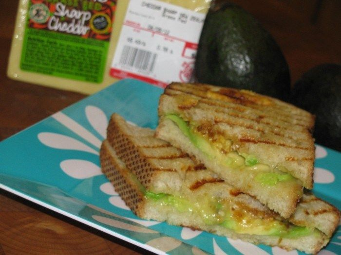 Grilled Avocado Sandwich- 450 calories