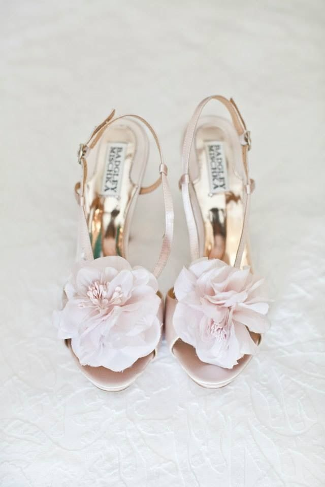Blush pink wedding shoes - Love Heels