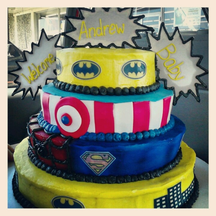 superhero baby shower cakes superhero baby shower cake