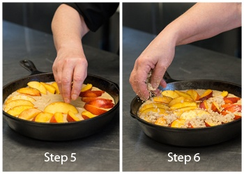 -by-step instructions on how to make a Nectarine Brown Butter Buckle ...