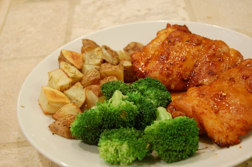 Spicy Honey-Brushed Chicken Thighs | Food Inspiration | Pinterest