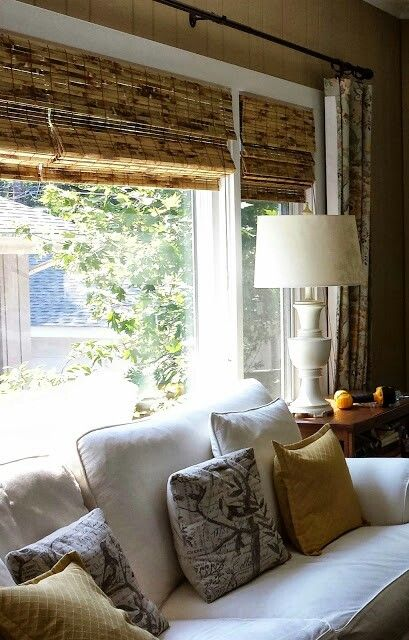 Tortoise Bamboo Blinds In Sunroom Home Sweet