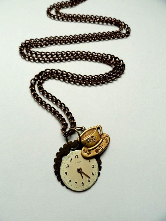 Steampunk Jewelry  Alice in Wonderland Tea by AmberIlysSteamcrafts, $28.00