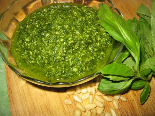 Basil Pesto from Food.com: A nice and light pesto sauce that goes ...