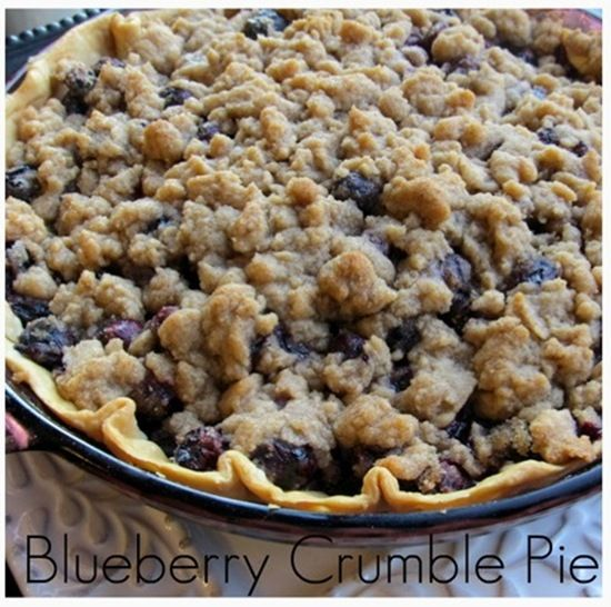 Pillsbury Pie Crusts Blueberry Crumble Pie