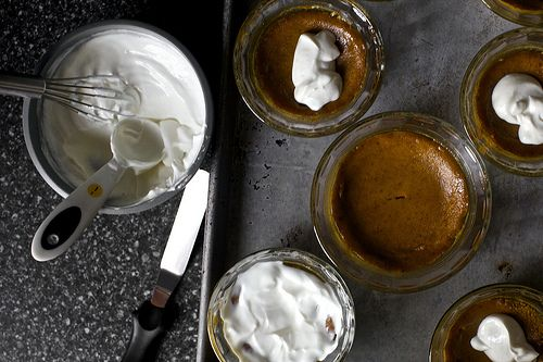 Baked pumpkin and sour cream pudding.   Sweet Tooth   Pinterest