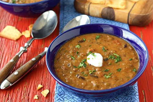 Hearty Lentil & Black Bean Soup with Smoked Paprika | Recipe