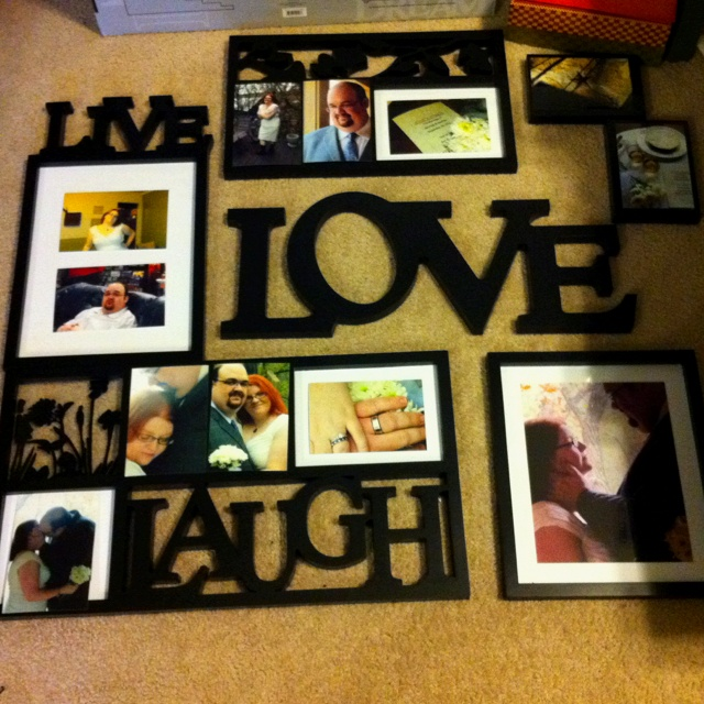 Hanging wedding pictures hanging pictures in your home pinterest