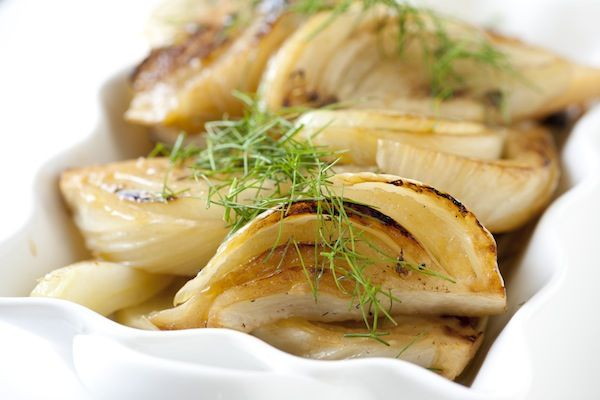 ... Fennel bulbs and orange zest. Braised Fennel can be eaten as a #